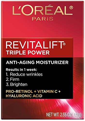 Anti-Aging Face Moisturizer by L'Oreal Paris Skin Care, Revitalift Triple Power Anti-Aging Moisturizer with Pro Retinol, Hyaluronic Acid & Vitamin C to reduce wrinkles, firm and brighten skin, 2.55 Oz 3