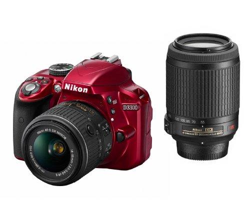 Nikon デジタル一眼レフカメラ D3300 ダブルズームキット レッド D3300WZRD