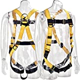 WELKFORDER 1D-Ring Industrial Fall Protection Safety Harness ANSI/ASSE Z359.11-2014 Certified Full Body Personal Protection Equipment 5-Point Adjustment Universal 310 lbs