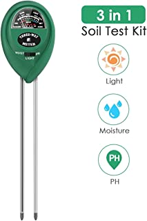 PentaBeauty Soil Test Kit, 3-in-1 Soil Tester with Moisture,Light and PH Test for Garden,..