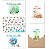 MPFY- Holiday Cards, Christmas Cards, Pack of 30 with Envelope, Message Inside, 6 Unique Design, Christmas Cards Boxed, Christmas Card, Holiday Cards Bulk, Greeting Cards, Happy Holidays Cards, Xmas