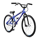 Mongoose Title Junior BMX Race Bike, 20-Inch Wheels, Beginner to Intermediate Riders, Lightweight Aluminum Frame, Internal Cable Routing, Silver