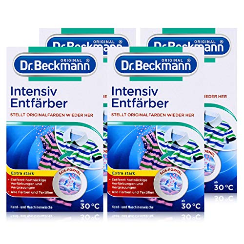 4x Dr. Beckmann Intensiv Entfärber 200g - Für alle Textilien +...