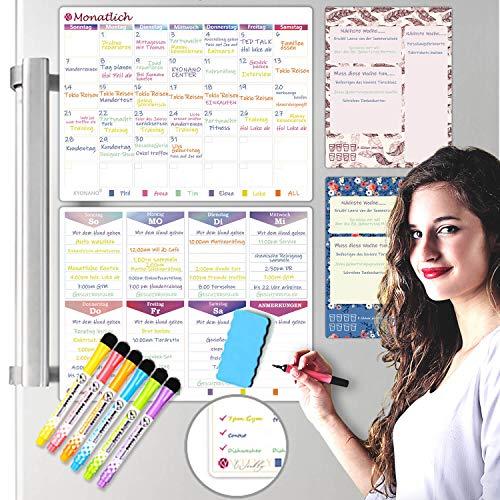 KYONANO Wochenplaner Abwischbar Magnetisch, Organisation Monatsplaner, Wochenplan Haushaltsplan, Magnetisches Whiteboard, Magnettafel Küche Kühlschrank (11STK/Set) …