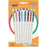BIC Cristal Up Stylos-Bille Pointe Moyenne (1,2 mm) - Couleurs Assorties,...