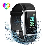 【Fitness Tracker with Heart Rate Monitor】The smart bracelet can track your heart rate and all-day activities. It can display steps taken, distance traveled, calorie burned, etc. You can also check your latest history sports data by long pressing the ...