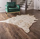 Faux Cowhide Rug - Beautiful Acid Wash Cowhide Rugs. Western Throw Rugs for Office, Bedroom, Nursery or Living Room with Our Rustic Area Rugs for Living Room