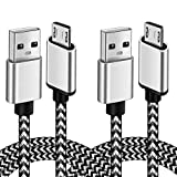 Micro USB Android Phone Charger Cable 6FT 2Pack Fast Charging Cord for Kindle fire 7 Tablet Samsung Galaxy J3 J7 S6 S7 Edge, LG stylo 2/3 LG G3 G4 K30 K20 Plus Moto E5 Plus, E6, G4, G5 Plus