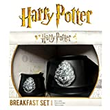 Harry Potter - Huevera y taza de cerámica negra