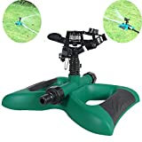 HIDOLL Garden Sprinkler, 360 Rotating Lawn Sprinkler with a Large Area of Coverage Adjustable, Weighted Gardening Watering System