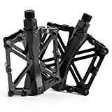 Quiklet Bike Pedals Mountain Bike Pedals - Aluminum Bearing Bicycle Pedals - Road Bike Pedals with 16 Anti-Skid Pins