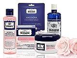 Agua de rosas, kit de rutina para el cuidado de la piel sensible, juego de belleza para pieles sensibles con ...
