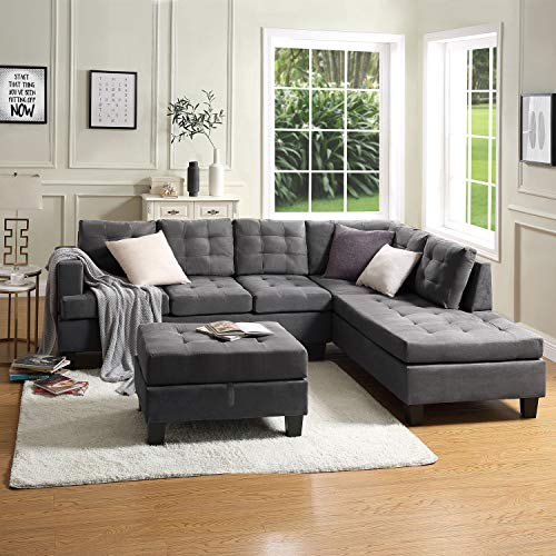 DKLGG Sectional Sofa Couch Modern L Shape Sleeper Couches with Storage Chaise for Small Living Room, Apartment and Small Space
