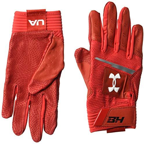 Under Armour Men's Harper Pro Batting Gloves, Red (600)/White, Medium
