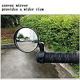 Fyeep Rétroviseur de vélo électrique avec réflecteur Blanc,...