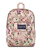 JanSport Big Student Backpack - Sustainable 15-inch Laptop School Bag, Pink Bouquet