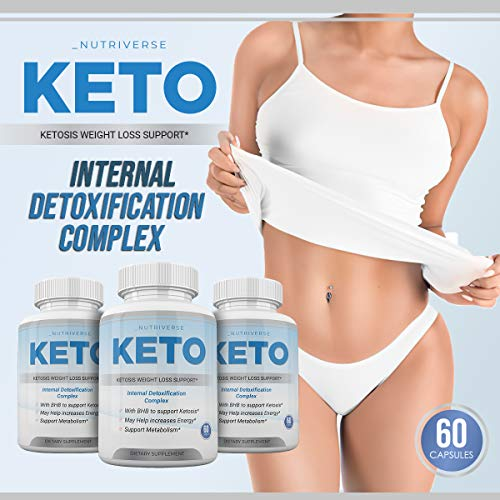 Nutriverse Keto - Ketosis Weight Loss Support - Intenal Detoxificatino Complex - 30 Day Supply 4