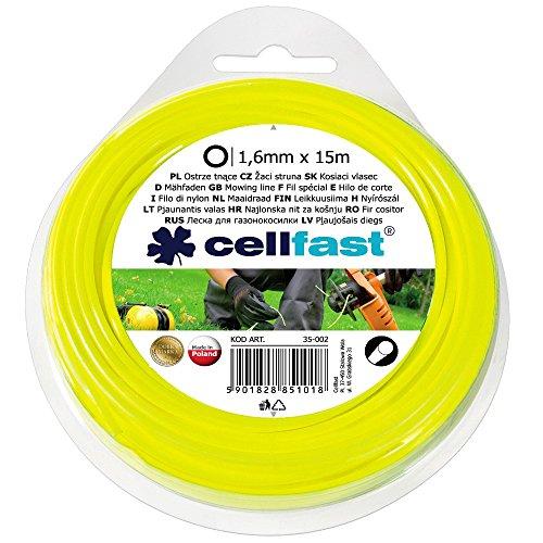 Cellfast Filo per decespugliatore, in Nylon, Lunghezza 15 m