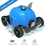 PAXCESS Cordless Automatic Pool Cleaner, Rechargeable Robotic Cleaner for Swimming Pool, Battery Powered Pool Cleaner, Up to 60mins Working Time, Easy Cleaning for in Ground and Above Ground Pools