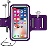 Smartlle Phone Holder for Running, Universal Armband for Cellphone, iPhone 12/12 Pro/11/11 Pro/XR/XS/X/SE/8/7/6s/6, Samsung Galaxy A/S/J, LG, Moto, Pixel, Up to 6.1'', for Gym, Sports, Workout-Purple