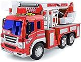 GizmoVine Camion de Pompier Véhicule avec Lumières Sons,éChelle Rotative De...