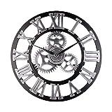 ZHANGNING Décor horloges Horloge Murale Vintage, Horloge en Bois en Bois...