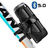 Avantree Portable Bluetooth 5.0 Bike Speaker with Bicycle Mount & SD Card Slot, 10W Powerful Enhanced Bass & Wireless NFC Pairing, Splash Proof, Shockproof & Dustproof for Riding, Outdoor - WP400