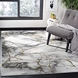 Safavieh Craft Collection CFT877F Modern Abstract Area Rug, 5' 3' x 7' 6', Grey/Gold