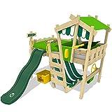 WICKEY lit pour enfant 'CrAzY Hutty' avec toboggan vert - Lit mezzanine en...