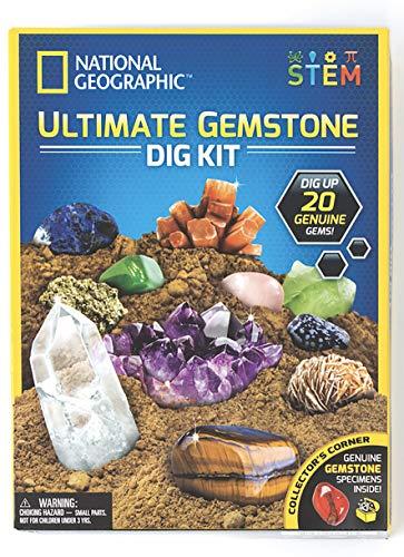 NATIONAL GEOGRAPHIC JM80206 Ultimate Gemstone Dig Kit