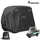 10L0L 4 Passenger Outdoor Golf Cart Cover,400D Waterproof Golf Cart...