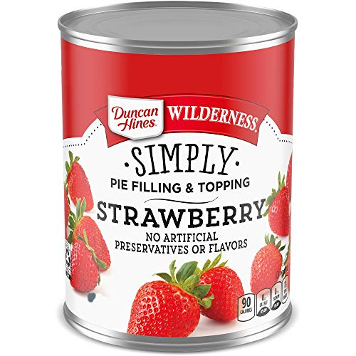 Duncan Hines Wilderness Simply Pie Filling, Strawberry, 21 Ounce (Pack of 8)
