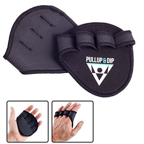 PULLUP & DIP Griffpolster Griffpads für Klimmzüge, Fitness, Bodybuilding & Krafttraining, 1 Paar Neopren Grip Pads, Trainings Pads als Alternative zu Trainingshandschuhen für maximalen Griff