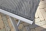greemotion Rollliege Monza Comfort silber/schwarz, Gartenliege 8-fach verstellbar, platzsparend zu verstauen, Liege mit extra breiter Liegefläche, Artikelmaße: ca. 152 x 77 x 118 cm - 3