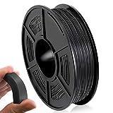 TPU Filament 1.75mm, TPU 3D Filament, TPU Flexible Filament 0.5KG Spool for 3D Printing, TPU Black
