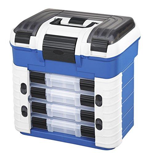 Plastica Panaro Cassetta Pesca 502, per Trasportare, Proteggere e Organizzare l'Attrezzatura, Blu, Dimensioni Esterne 420 x 303 x 400 mm