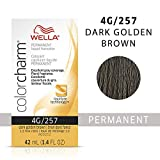 WELLA Color Charm Permanent Liquid Hair Color, 4G Dark Gold Brown