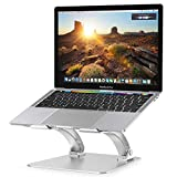 Nulaxy Laptop Stand, Ergonomic Adjustable Laptop Riser Computer Laptop Stand Compatible with MacBook, Air, Pro, Dell XPS, Samsung, Lenovo, Alienware All Laptops 10-17.3', Supports Up to 44 Lbs -Silver