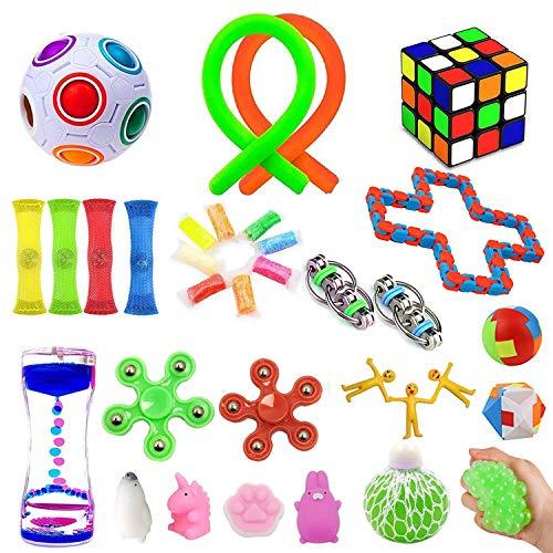 32 Pack Sensory Fidget Toys Set,Stress Relief Hand Toys...