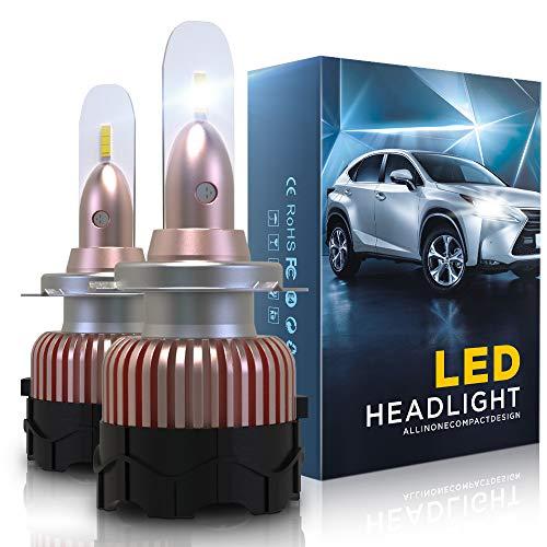 Aolead Lampadine H7 LED 10800LM Auto Fari Sostituzione per Alogena e Xenon Luci, CSP Super Luminosa Lampada 6000K - 2 Anni Garanzia