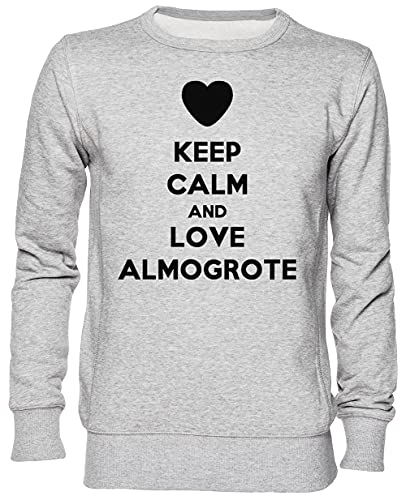 Keep Calm and Love Almogrote Gris Jersey Sudadera Unisexo Hombre Mujer Tamaño M Grey Unisex Jumper Size M