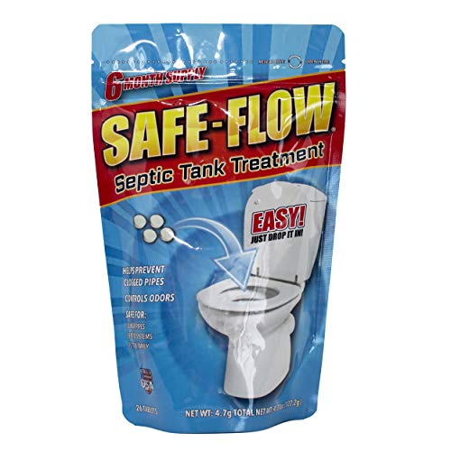 SAFE-FLOW Septic Tank Treatment Small Cleaning Tablets - 6...