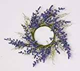 Worth Imports 1114PU Purple Flower Candle Ring, 3.25', 2 Piece
