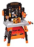 BLACK+DECKER Power Tool Workshop - Play Toy Workbench for Kids with Drill, Miter Saw and Working...