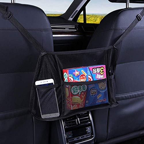 車用収納ポケット メッシュバッグ スリム 折り畳み式 カバン 置き場所 座席隙間収納 Uciy