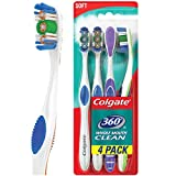 Colgate 360 Adult Full Head Soft Toothbrush - 4 Count