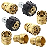 Twinkle Star Pressure Washer Adapter Set, Quick Disconnect Kit, M22 Swivel to 3/8'' Quick Connect, 3/4' to Quick Release