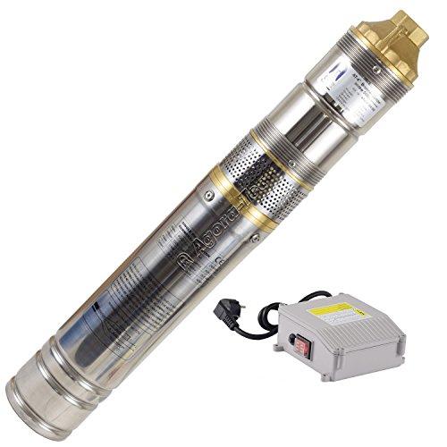 """Agora-Tec® AT- 4\"""" Brunnenpumpe 500W-screw 15m Kabel sandresistente Tiefbrunnenpumpe mit max: 8 bar und 2800l/H"""