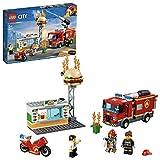 LEGO City - L'intervention des pompiers au restaurant de hamburgers - 60214 - Jeu de construction