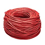 AmazonBasics Cat6 Ethernet Solid Bulk Cable (23 AWG, UTP) - 1000-Foot, Red